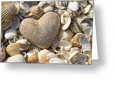 sea shell Heart Greeting Card by Boon Mee