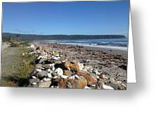 Sea Shore With Rocks Greeting Card