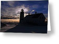 Sea Smoke At West Quoddy Head Lighthouse Greeting Card