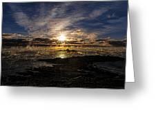 Sea Smoke Panorama Greeting Card