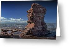 Sea Stack At North Cape On Prince Edward Island Greeting Card