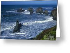 Sea Stacks Central Coast Near Rockport California Greeting Card