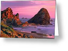 Sea Stacks Clearing Storm Harris State Beach Oregon Greeting Card
