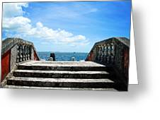 Sea Stairs Greeting Card