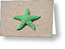Sea Star - Green Greeting Card by Al Powell Photography USA
