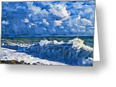 Sea Storm Coming Soon Greeting Card