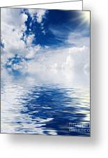 Sea Sun And Clouds Greeting Card