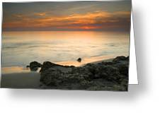 Sea Sunset Greeting Card