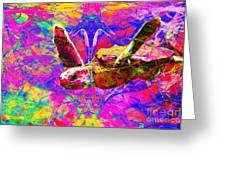 Sea Turtle In Abstract V3 Greeting Card