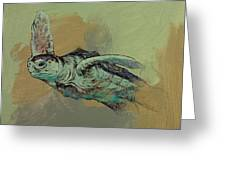 Sea Turtle Greeting Card by Michael Creese