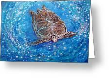Sea Turtle Mr. Longevity Greeting Card