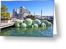 Sea Urchin Sculpture Wellington New Zealand Greeting Card
