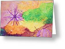 Sea Urchins - Abstract Greeting Card