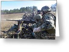 Seabees Fire The M2 .50-caliber Machine Greeting Card