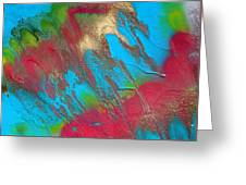 Seabreeze Abstract Painting Greeting Card