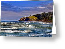 Seacape Greeting Card by Robert Bales