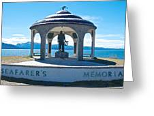 Seafarer's Memorial On Homer Spit-ak Greeting Card