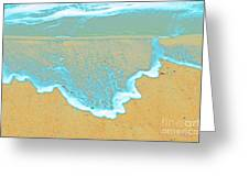 Seafoam Abstract Greeting Card