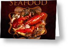 Seafood Gallery Greeting Card
