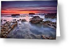 Seaford Rock Pool Greeting Card by Mark Leader