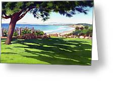 Seagrove Park Del Mar Greeting Card by Mary Helmreich
