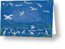 Seagulls Greeting Card by Melissa Dawn
