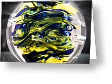 Seahawks Glass -  Solid Glass Sculpture  Greeting Card