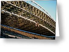 Seahawks Stadium 3 Greeting Card