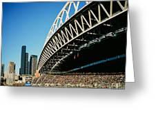Seahawks Stadium 5 Greeting Card