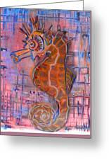 Seahorse Sandy Greeting Card