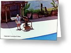 Seal And Trainer Greeting Card