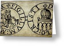 Seal Of The Knights Templar Greeting Card
