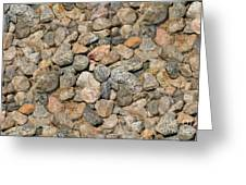 Seamless Background Gravel Stones Greeting Card