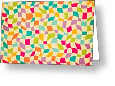 Seamless Color Mosaic Background Greeting Card