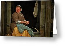 Seamstress Greeting Card by Edward Fielding