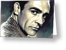 Sean Connery Artwork Greeting Card