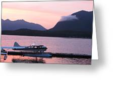 Seaplane And Cloud Greeting Card
