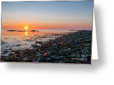 Seapoint Beach In  Kittery Point Maine Greeting Card