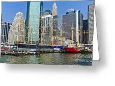 Seaport Harbor Nyc Greeting Card