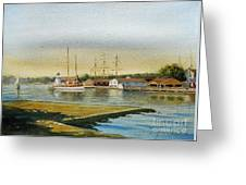 Seaport Lighthouse Greeting Card