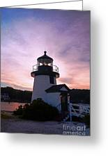 Seaport Nightlight Greeting Card