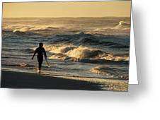 Searching For The Perfect Wave Greeting Card