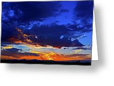 Searching The Painted Sky Greeting Card