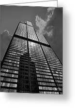 Sears Willis Tower Black And White 02 Greeting Card
