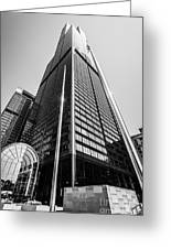 Sears Willis Tower Chicago Black And White Picture Greeting Card