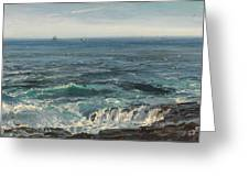 Seascape 1877 Greeting Card by Henry Moore