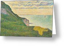 Seascape At Port En Bessin Normandy Greeting Card by Georges Seurat
