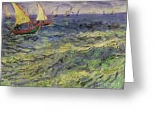 Seascape At Saintes-maries 1888 Greeting Card