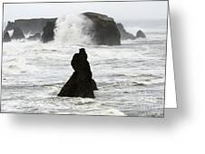 Seascape Bandon Oregon 1 Greeting Card