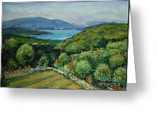 Seascape From Kavran Greeting Card